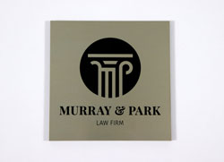 Brushed Metal Office Signs