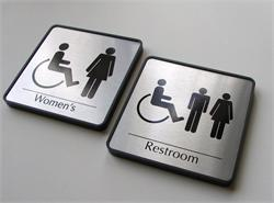 Handicap Bathroom Signs, Custom