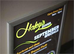 Illiminated Sign Frames with Graphic Insert