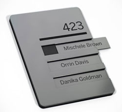Engraved Window Signs with Room Name or Number (Matching Inserts)