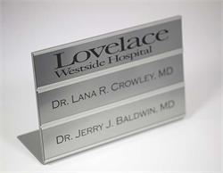 Changeable Office Name Plates - made in Fargo