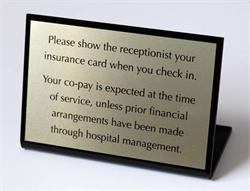 Desk Sign for Medical Offices