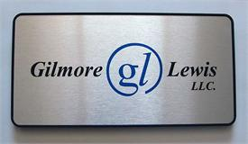 Framed Brushed Metal Office Signs with Full Color Logo