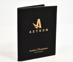 Black Portfolio with Gold Lettering