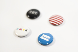 Full Color Magnetic Buttons with Custom Text and Design