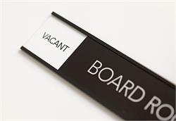 Vacant-Occupied Sliding Signs Board Room