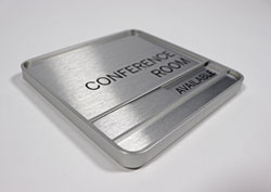 Satin Silver Conference Room Sign