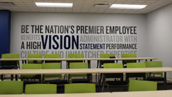 Mission Statement Wall Vinyl for Meeting Rooms