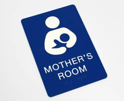 Mother's Room Braille Sign, ADA Compliant
