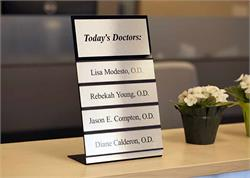 Removable and Changeable Name Plate Signs