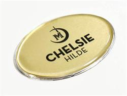 Hotel style name badges and name tags with Clear Lens