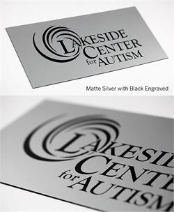 Matte Silver Acrylic Name Plated Engraved in Rich Black