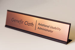 Bronze Desk Frame with Rose Gold Engraved Plate
