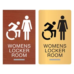 New York ADA Braille Womens Locker Room Signs