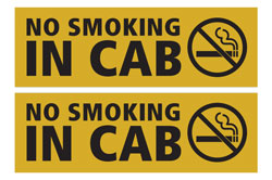Set of Two No Smoking in Cab Decals
