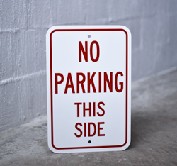 Aluminum Parking Signs - Non Reflective