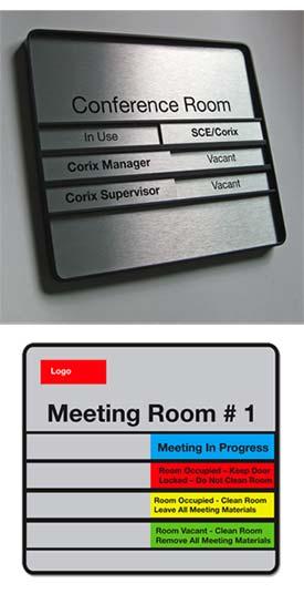 Sliding In Out Office Door Signs
