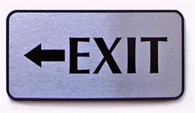 Exit Sign - Architectural Office Door Name Plates