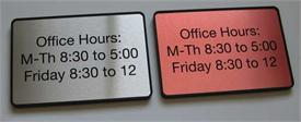 Interior Office Hours Signs