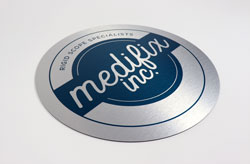 Metal Logo Sign with Full Color Print