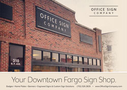 Office Sign Company Gift Certificate