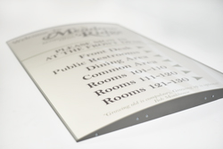 Interchangeable Curved Directory Frame with Single Insert