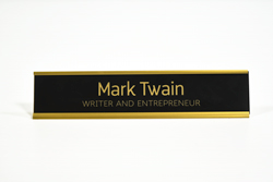 Office Counter Signs - Gold Frame