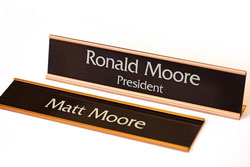 Office Signs with Rose Gold Frames