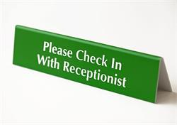 Office Signs - Check In with Receptionist
