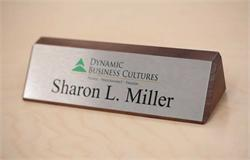Solid Wood Office Desk Name Plate