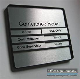 Office Slider Signs - Sliding Display