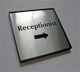 Framed Office Signs with Square Corners