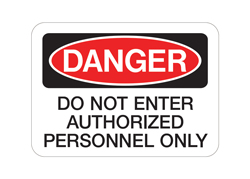 OSHA Danger Decal