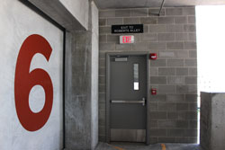 Directional Wall Vinyl for Parking Ramps