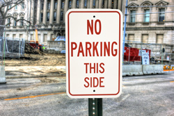 Non Reflective Parking Signs with Vinyl Lettering