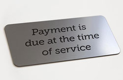 Payment Due Signs