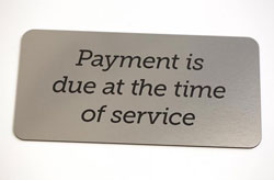 Medical Office Payment Due Signs
