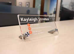 Personalized Clear Acrylic Desk Signs