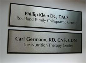Office Door Signs in Contemporary Brushed aluminum finish