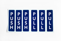 Push Pull Decals for Doors