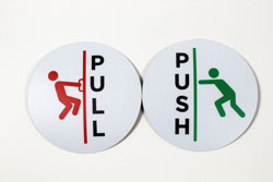Push Pull Sign Set