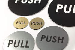 Push Pull Door Sign Set