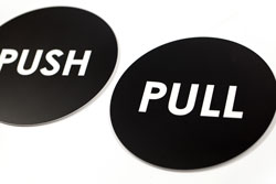 Office signs - Acrylic Push and Pull Door Signs