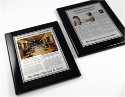 Wall Mount Awards and Magazine Prints