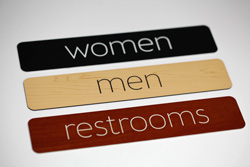 Simple Restroom Signs  Laser Engraved