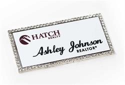 Rhinestone name badges, name tags with Bling