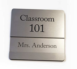 Engraved Name Plate with Insert Channel Sign
