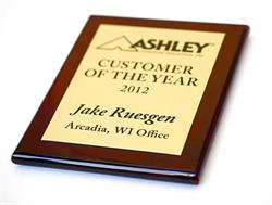 gold plaque on wood base - Premium Awards & Recognition