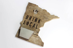 Routed State (Minnesota) Bottle Opener for Drink Local