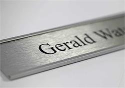 Satin Silver Office Signs & Name Plates